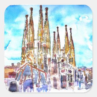 Sagrada Familia Barcelona Square Sticker