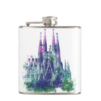 Sagrada Familia Catalonia Spain Hip Flask