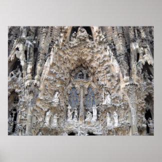 Sagrada Familia Cathedral Barcelona Spain Poster