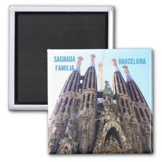 Sagrada Familia church 2 Inch Square Magnet