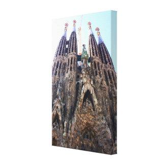 Sagrada Familia church Canvas Print