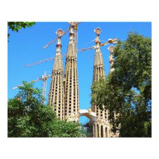Sagrada Familia church in Barcelona, Spain Flyer