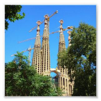 Sagrada Familia church in Barcelona, Spain Photo Print