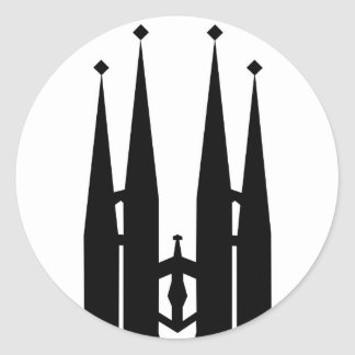 Sagrada Familia Classic Round Sticker