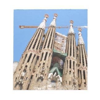 Sagrada Familia en Barcelona, España Bloc De Papel
