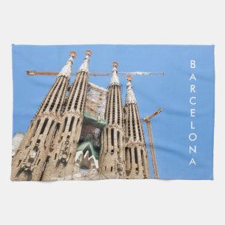 Sagrada Familia en Barcelona, España Toalla