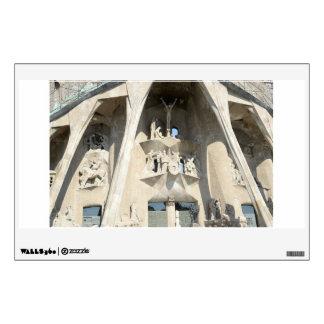 Sagrada Familia. Fachada de la pasión Vinilo Adhesivo