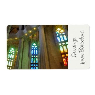 Sagrada Familia. Interior Label