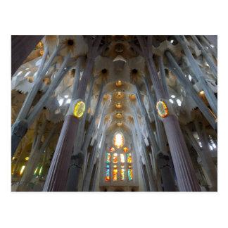 Sagrada Familia. Interiors. 2015 calendar Postcard