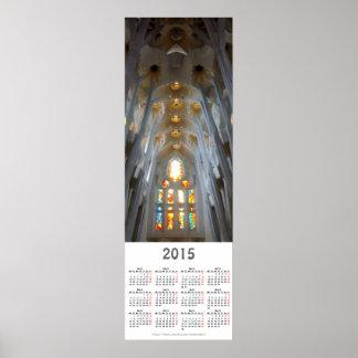Sagrada Familia. Interiors. 2015 calendar Poster
