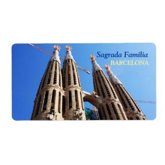 Sagrada Familia Label