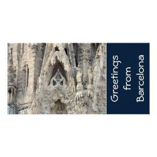 Sagrada Familia. Nativity facade. Card