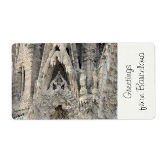 Sagrada Familia. Nativity facade. Label
