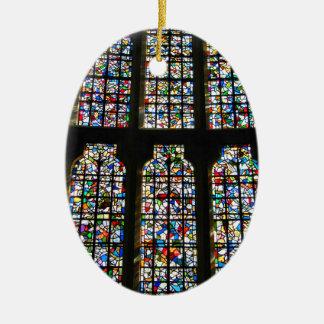 Sagrada Familia Stained Glass Barcelona Photograph Ceramic Ornament