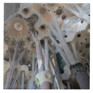 Sagrada Família's ceiling and columns Ceramic Tile