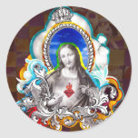 Sagrado Coração de Jesus (Sacred Heart) Adesivo Redondo
