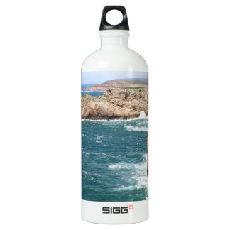 Sagres Algarve rugged coastline Water Bottle