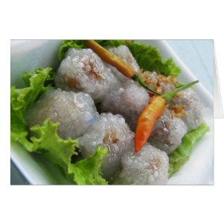 Sagú tailandés con la comida de la calle de Tailan Tarjeta De Felicitación
