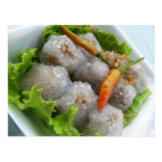Sagú tailandés con la comida de la calle de Tailan Tarjeta Postal