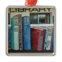 Saguache County Library, Colorado Metal Ornament