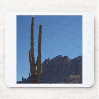 Saguaro Against Blue Sky and Hill Mouse Pad