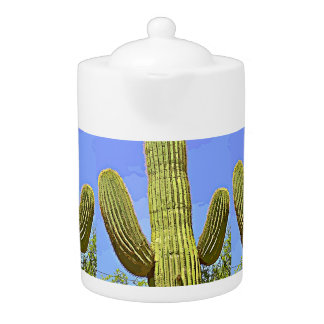 Saguaro Arms In Cartoons Medium Tea Pot