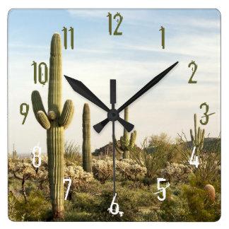 Saguaro Cactus, Arizona,USA Square Wall Clock