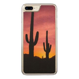 Saguaro cactus at sunrise, Arizona Carved iPhone 7 Plus Case