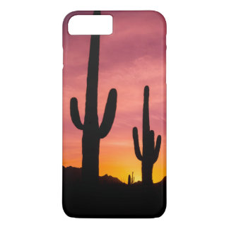 Saguaro cactus at sunrise, Arizona iPhone 7 Plus Case