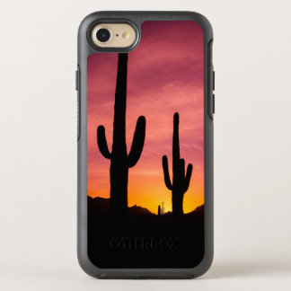 Saguaro cactus at sunrise, Arizona OtterBox Symmetry iPhone 8/7 Case