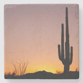 Saguaro Cactus at Sunset Stone Beverage Coaster