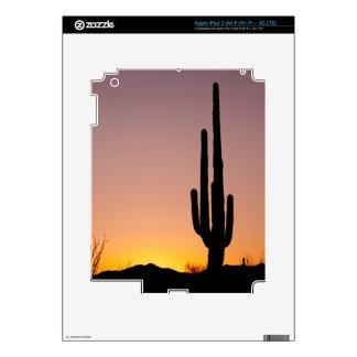 Saguaro Cactus at Sunset iPad 3 Decals