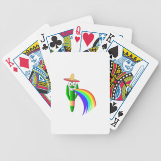 Saguaro Cactus Barfing A Rainbow Bicycle Playing Cards