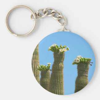 Saguaro Cactus Blossoms Keychain