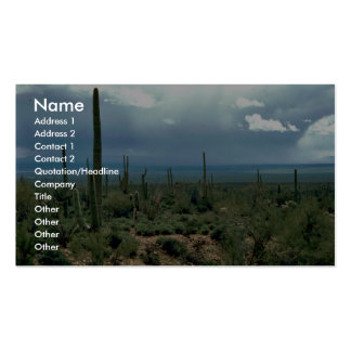 Saguaro Cactus Double-Sided Standard Business Cards (Pack Of 100)