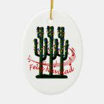 Saguaro Cactus Feliz Navidad  Christmas Ornament