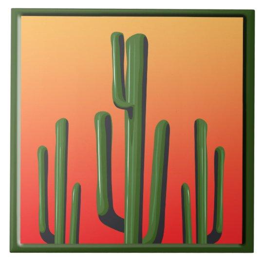 Saguaro Cactus Home Decor Tile