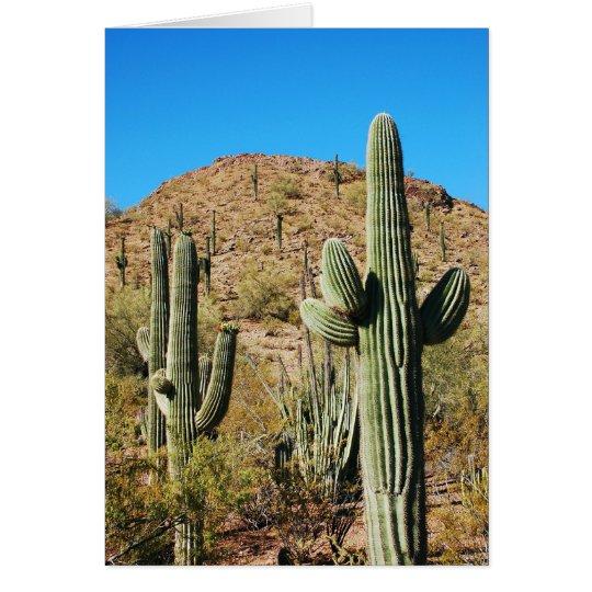 Saguaro cactus landscape greeting card