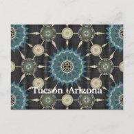 Saguaro Cactus Mandala Array Postcard