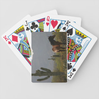 Saguaro Cactus of the Sonoran Desert :: Wild Horse Bicycle Playing Cards