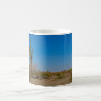 Saguaro Cactus on Lonely Desert Road Coffee Mug