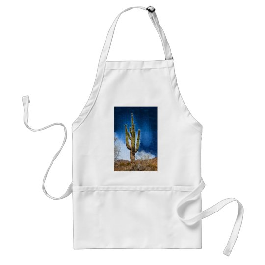Saguaro Cactus painting Adult Apron