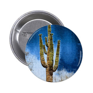 Saguaro Cactus painting Buttons