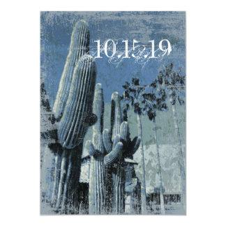 "Saguaro Cactus Palm Trees Arizona Wedding Invites 5"" X 7"" Invitation Card"