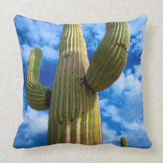 Saguaro cactus portrait, Arizona Throw Pillow