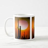 Saguaro cactus, Sonoran Desert, U.S.A. Desert Coffee Mug