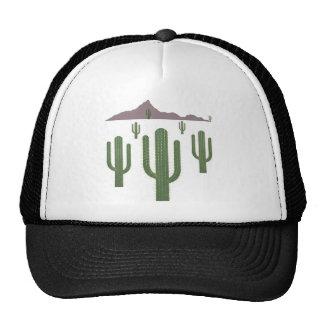 Saguaro Christmas Lights Trucker Hat