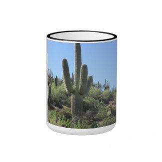 Saguaro del desierto taza a dos colores