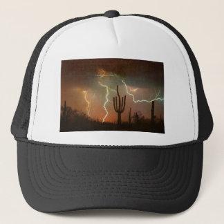 Saguaro Lightning Storm Trucker Hat