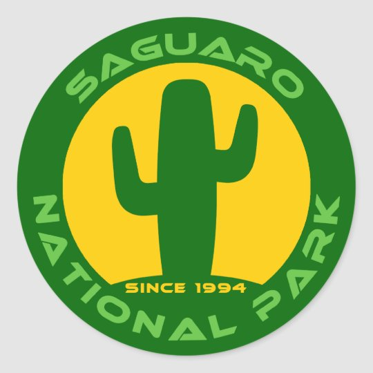 Saguaro National Park Classic Round Sticker